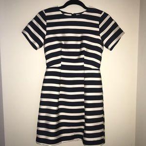 H&M Navy and Cream Dress